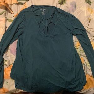 American Eagle Soft and Sexy Blue Longsleeve